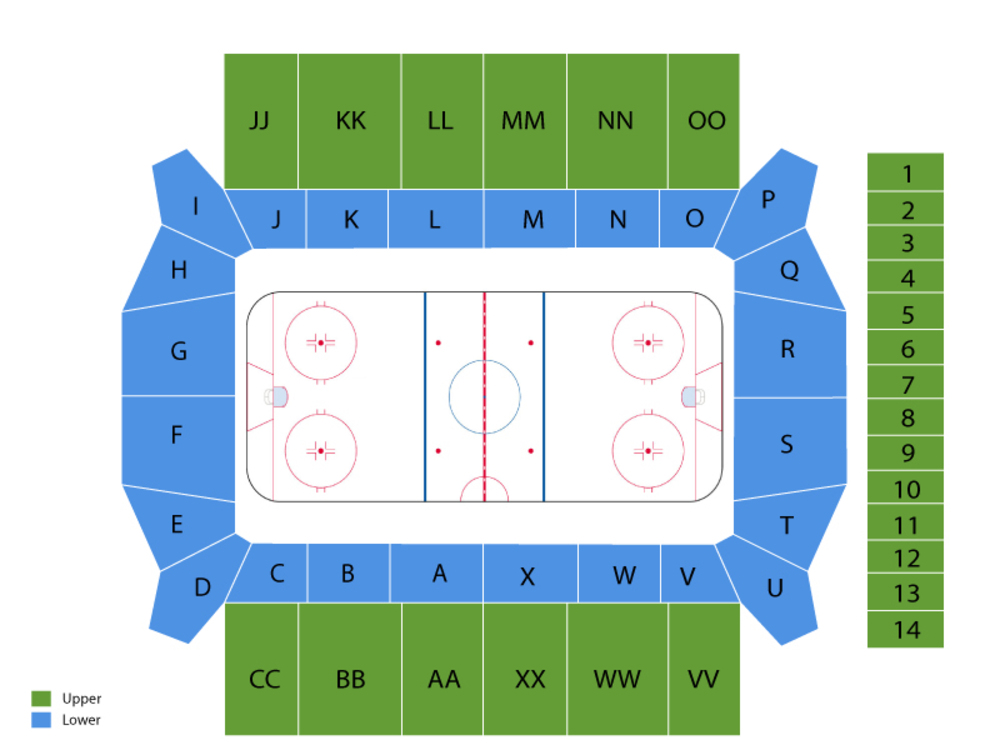 New Hampshire Wildcats at Boston College Eagles Hockey Venue Map