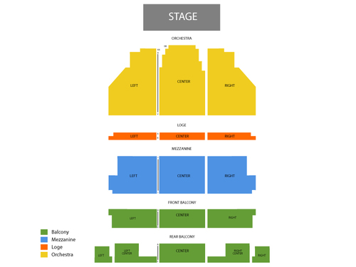 Curran Theatre Seating Chart