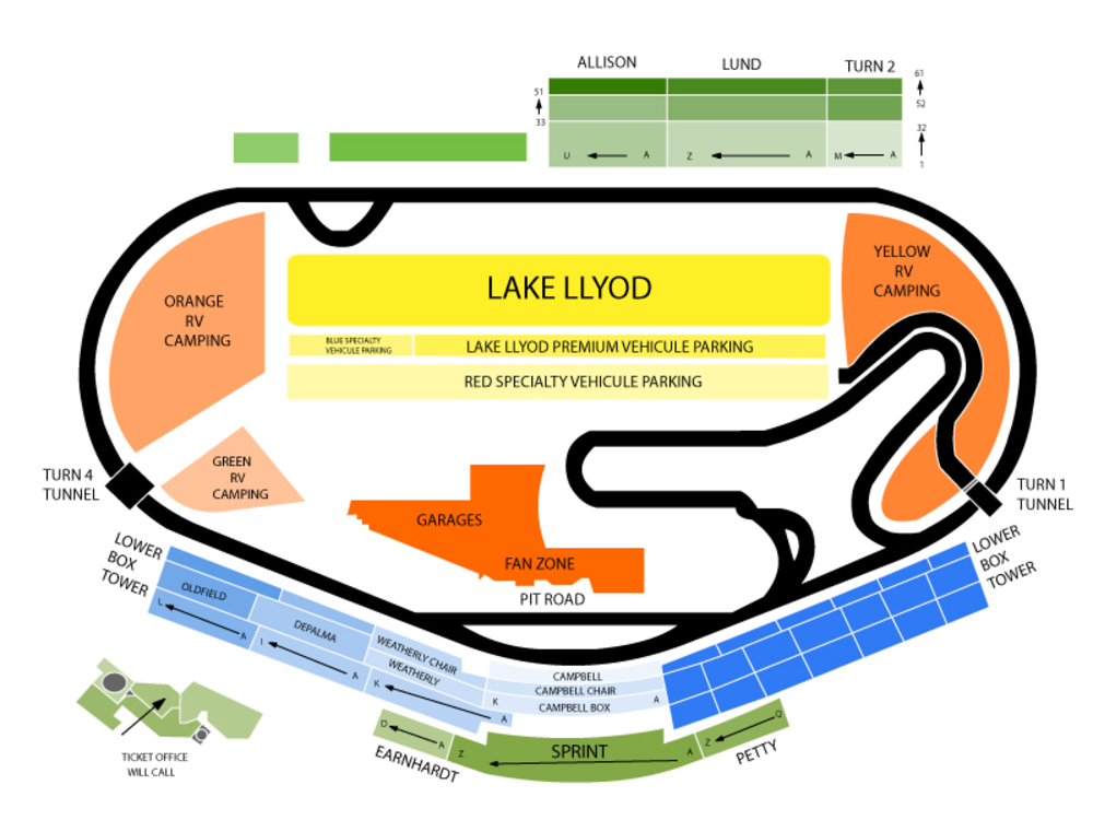 NASCAR Sprint Cup Series - Coke Zero 400 Venue Map