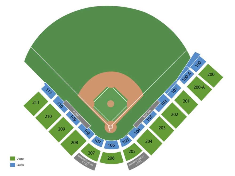 Spring Training: Miami Marlins at Toronto Blue Jays (Split Squad) Venue Map