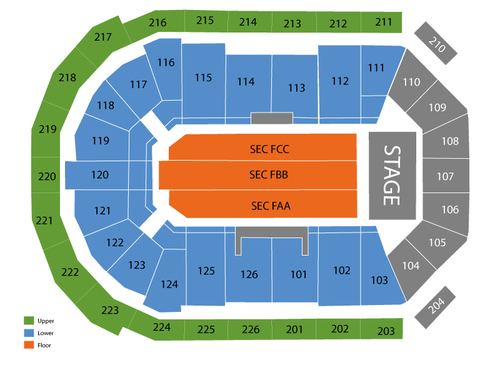 Maverik Center Seating Chart