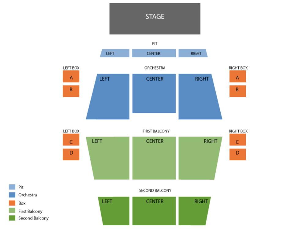 Fitzgerald theater seating chart and tickets