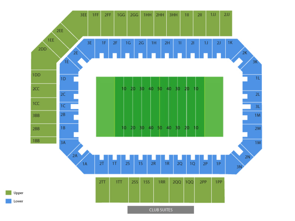 Marshall Thundering Herd at Middle Tennessee State Blue Raiders Football Venue Map