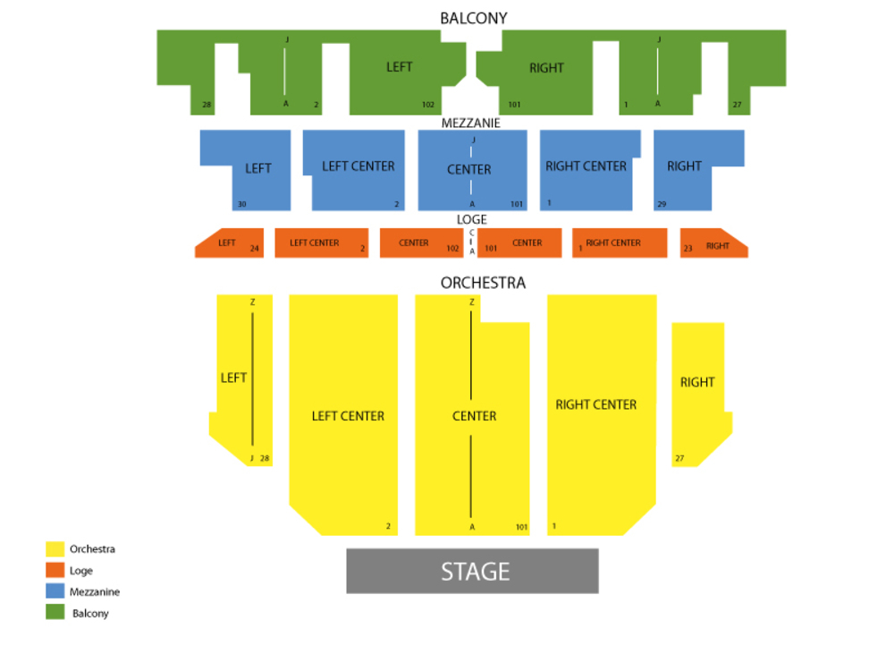 Seating Chart for Full House Seating Chart at Golden Gate Theatre