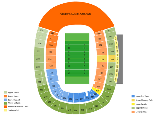 Gerald Ford Stadium Seating Chart