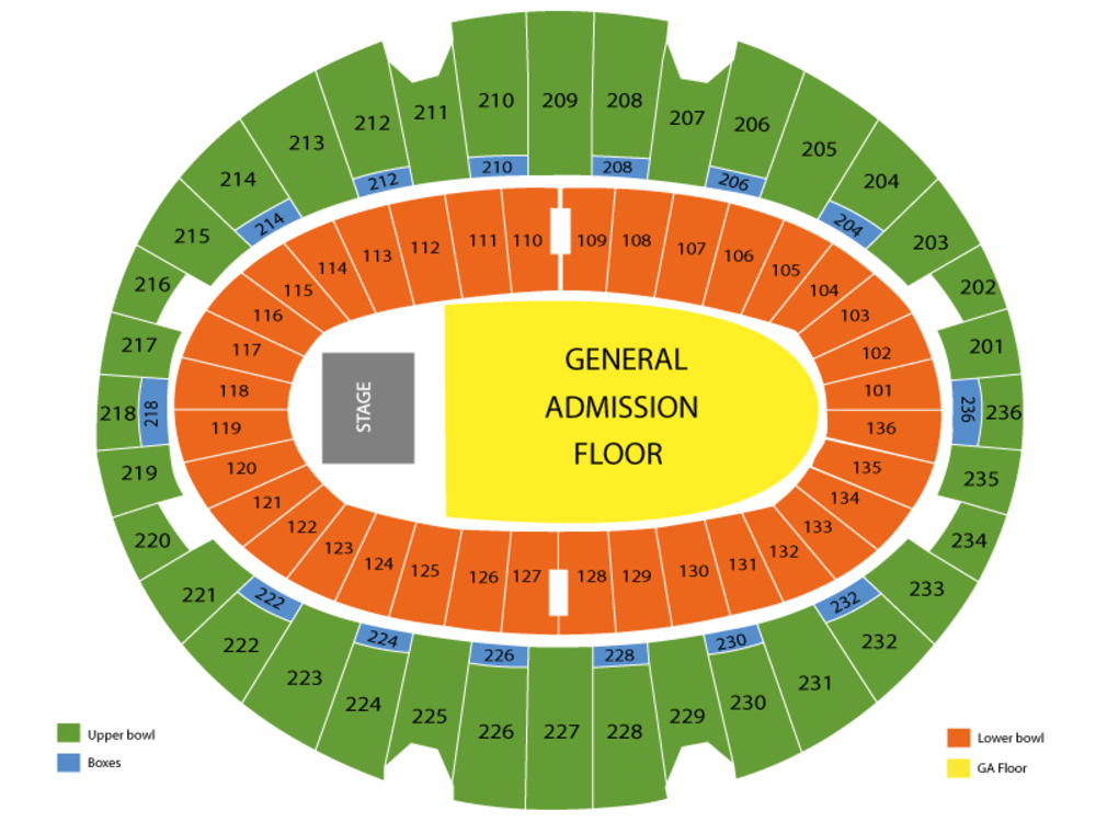 The Forum seating map and tickets