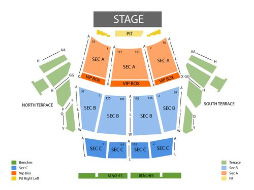 Pat Benatar with Neil Giraldo and Cheap Trick Venue Map