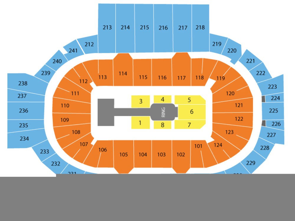 WWE - Money in the Bank Venue Map
