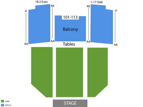 Henry Fonda Theatre Seating Chart