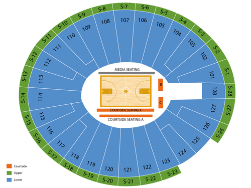 Hofheinz Pavilion Seating Chart