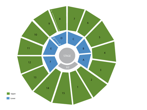Arena Theatre Seating Chart