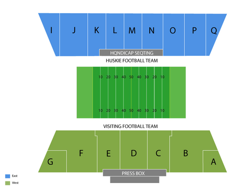 Huskie Stadium Seating Chart