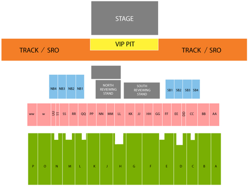 Toby Keith Venue Map