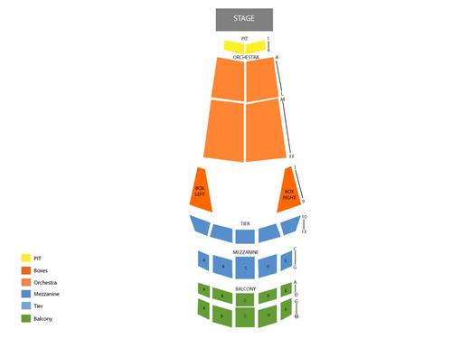 Jones Hall Seating Chart