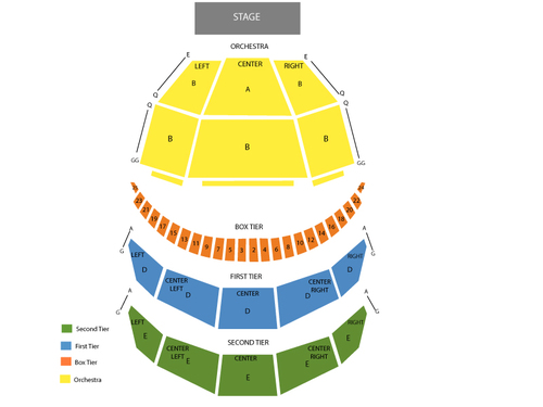 Washington National Opera: Tosca Venue Map