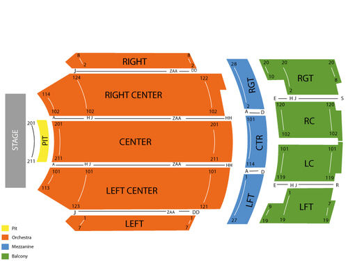 Kirby Center Seating Chart