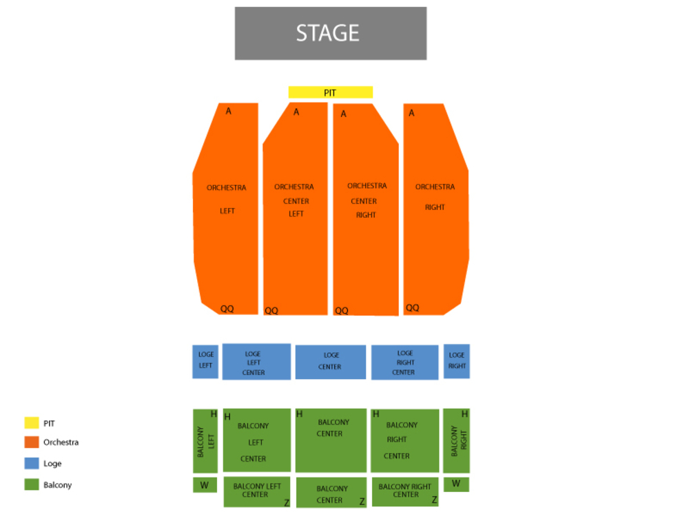 Landmark Theatre seating map and tickets