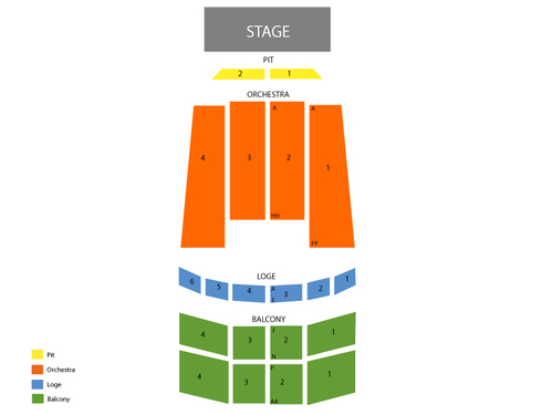 Kevin James Venue Map
