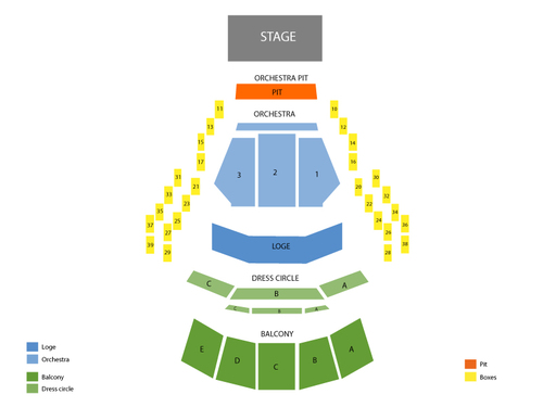 Mahaffey Theater - Progress Energy Center Seating Chart