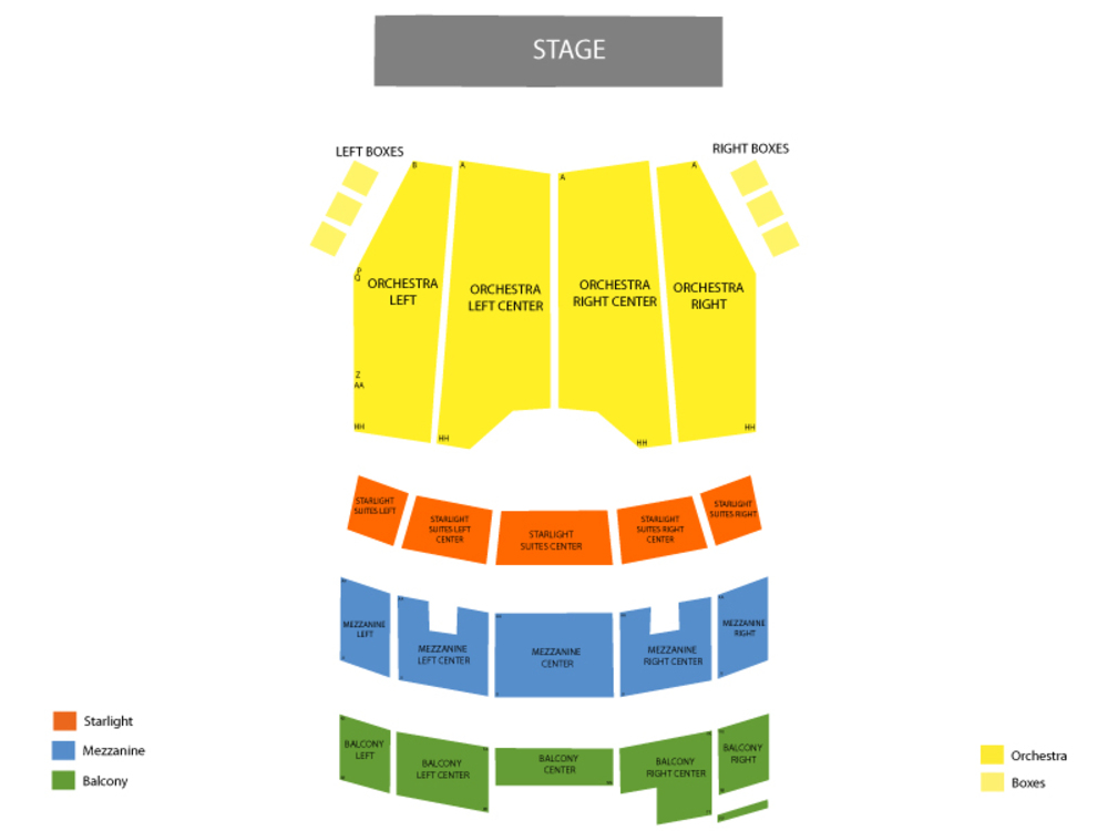 The Bodyguard Venue Map