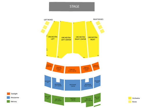 Peter and the Starcatcher Venue Map