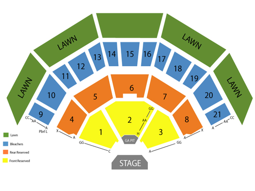 Marcus Amphitheater / Summerfest Seating Chart