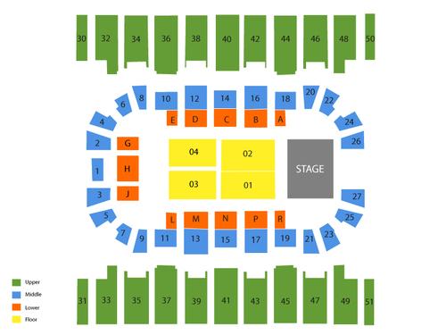 Metrapark Arena Seating Chart