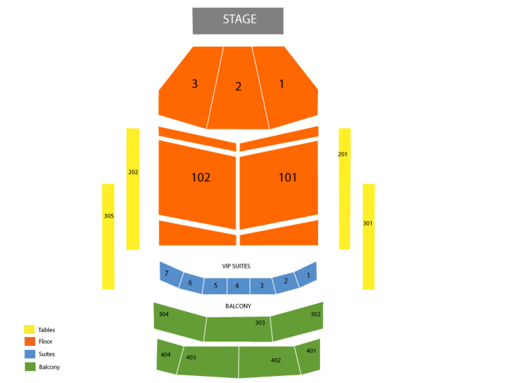 Cody Johnson Venue Map