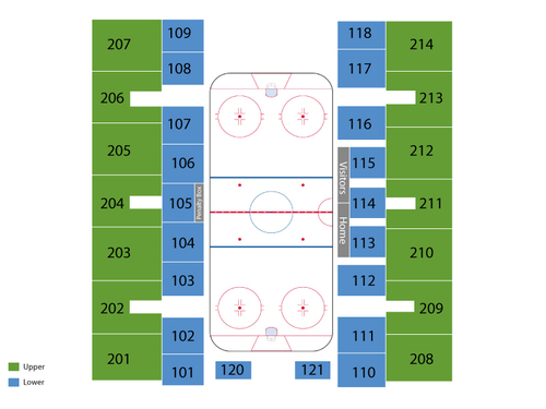 National Hockey Center Seating Chart