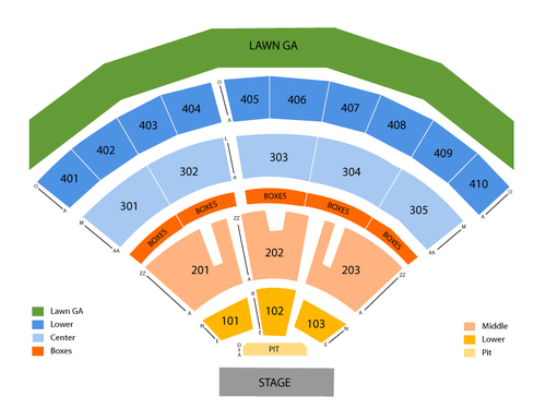 Molson Canadian Amphitheatre Seating Chart