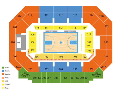 Moody Coliseum Seating Chart