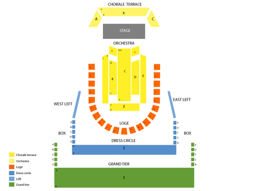 Dallas Symphony Orchestra: Wicked Divas Venue Map
