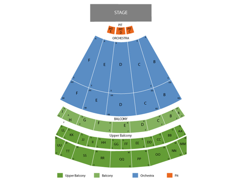 The Lion King Venue Map