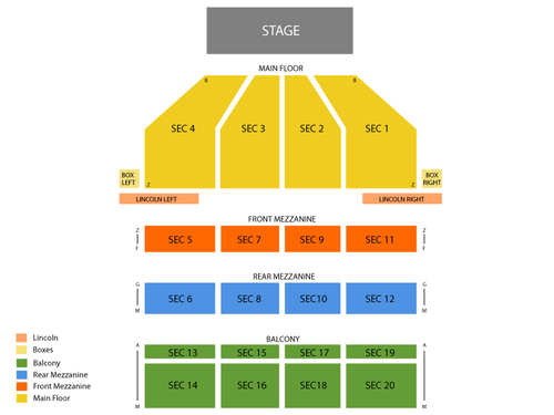 Music Hall Center Seating Chart