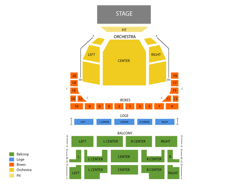 Music Hall (MO) Seating Chart