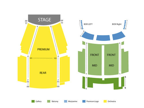 Seating Chart State Theatre-NJ
