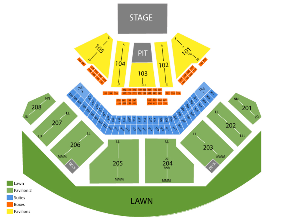 ZZ Top Venue Map