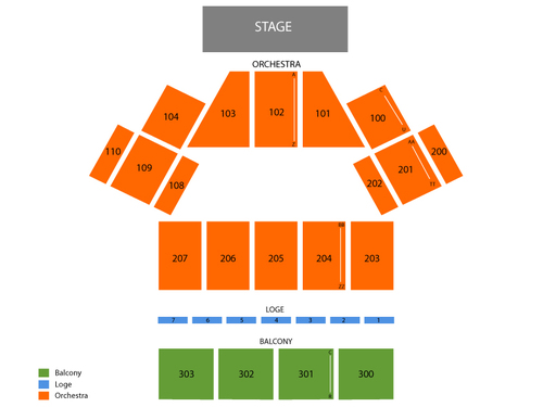 Oakdale Theatre Seating Chart