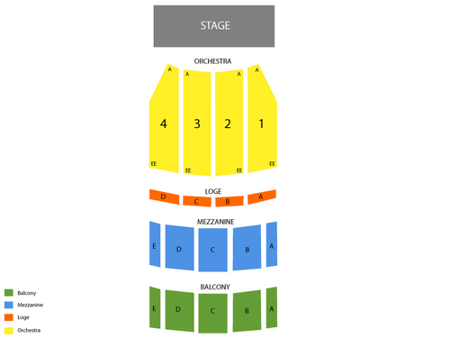 Ohio Theatre (Columbus) Seating Chart