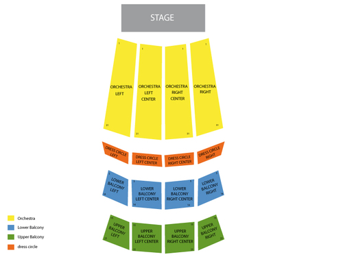 Orpheum Theatre (Vancouver) Seating Chart