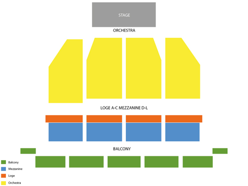 Orpheum Theatre San Francisco Seating Chart
