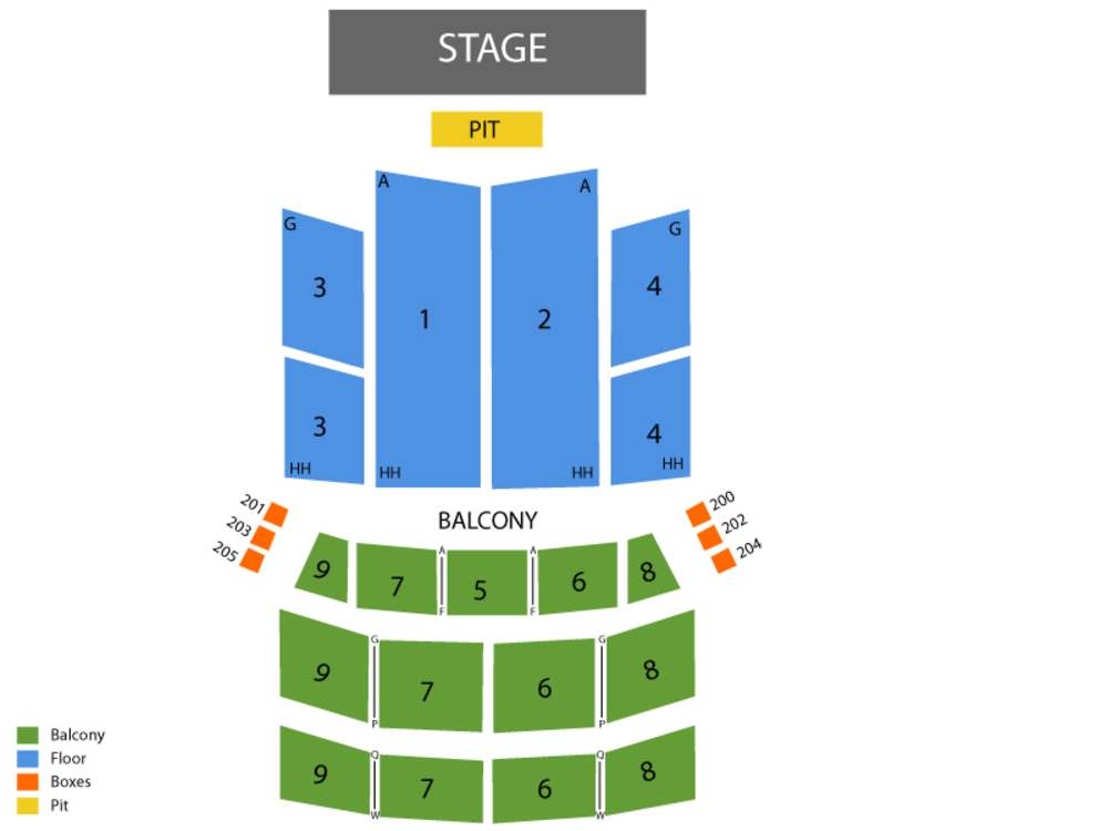 Jersey Boys Venue Map