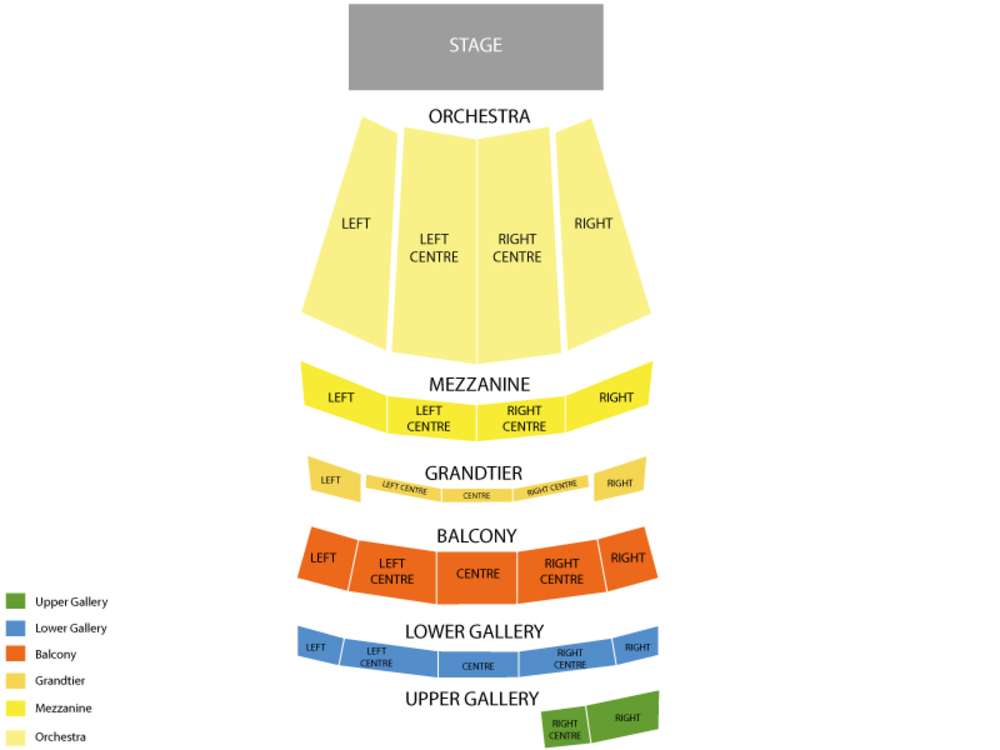 Seating Chart for Full House Seating Chart at Orpheum Theatre Memphis (Memphis)