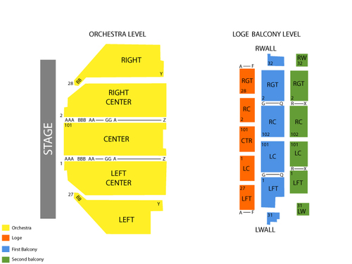 Dane Cook Venue Map