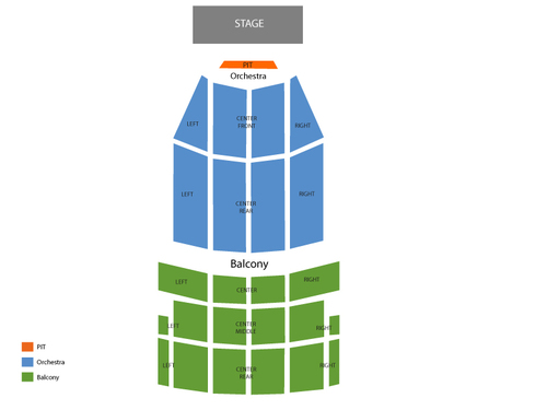 Paramount Theatre Seating Chart