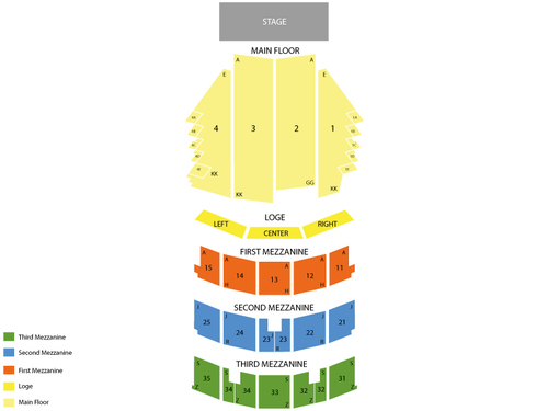 Paramount Theatre (Seattle) Seating Chart