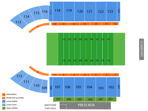 Peden Stadium Seating Chart