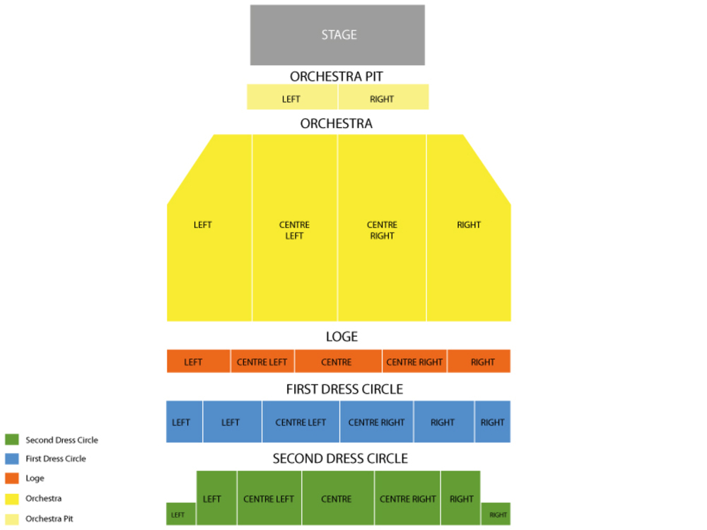 Providence Performing Arts Center seating map and tickets