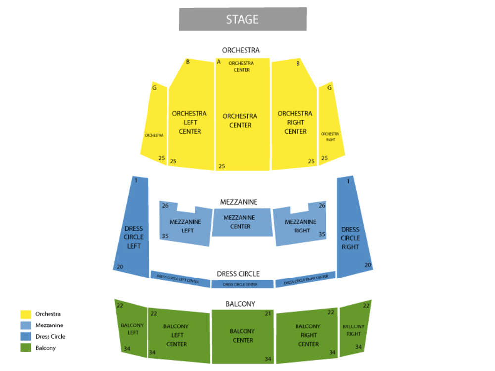 Shen Yun Performing Arts Venue Map