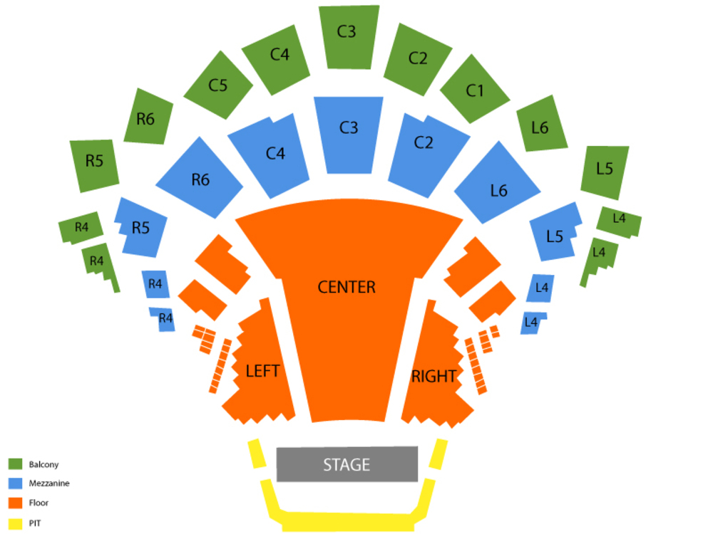 Classic Albums Live Tribute Show: The Eagles - Their Greatest Hits Venue Map